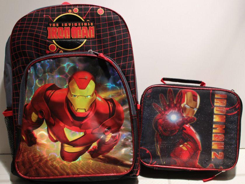 SET IRON MAN BACKPACK & LUNCH BAG Book Kit Box School