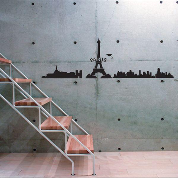 EIFFEL TOWER ♠ Mural Art Wall STICKER Decal Paper Decor