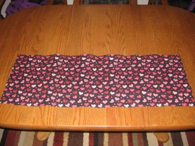 Quilted Table Runner St Patricks Day Frogs Valentines Day Hearts